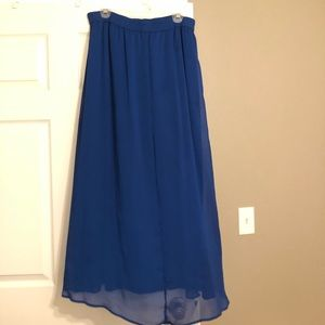 Royal Blue Flowy Maxi Skirt